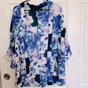 Apt. 9 Floral Batwing Kimono Women's size M